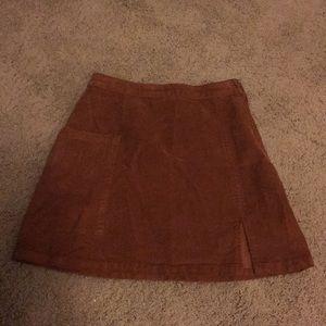 Asos Cord Slit Mini Skirt